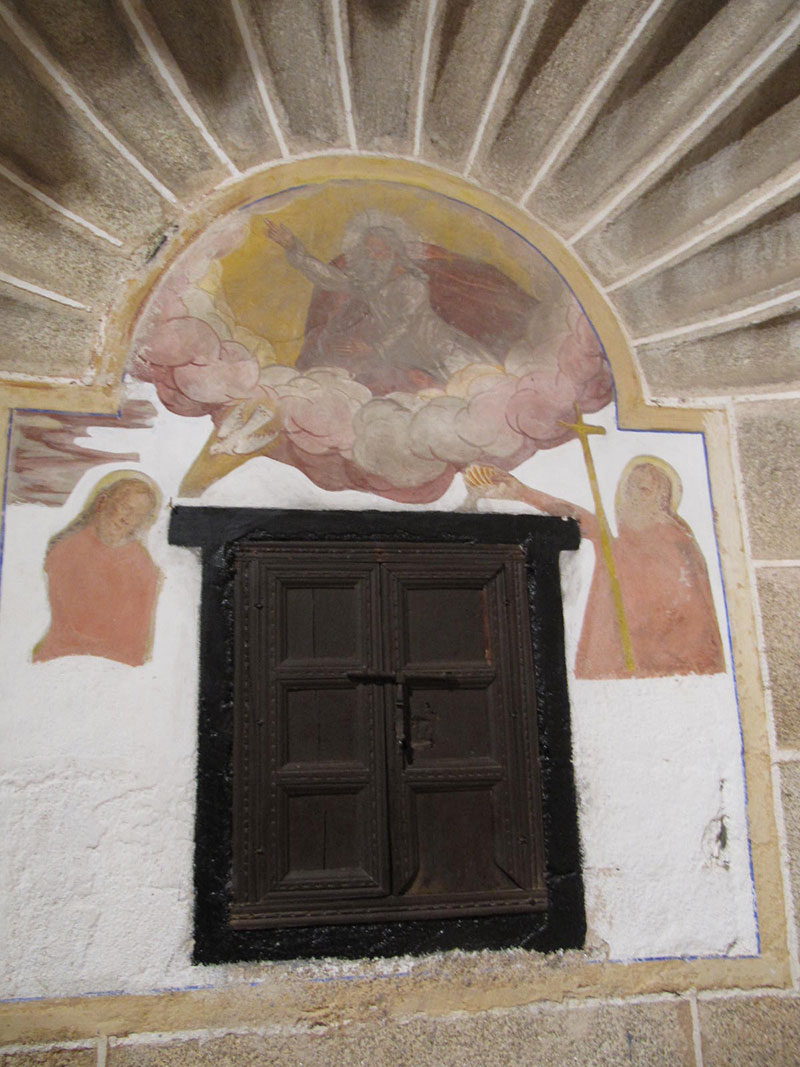 Detalle de la Iglesia de Malpartida de Cáceres