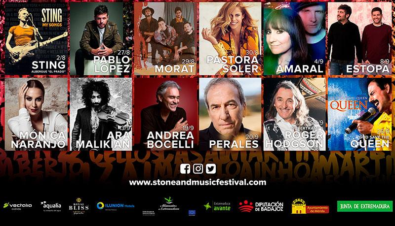 Cartel completo hasta la fecha del Stone & Music Festival