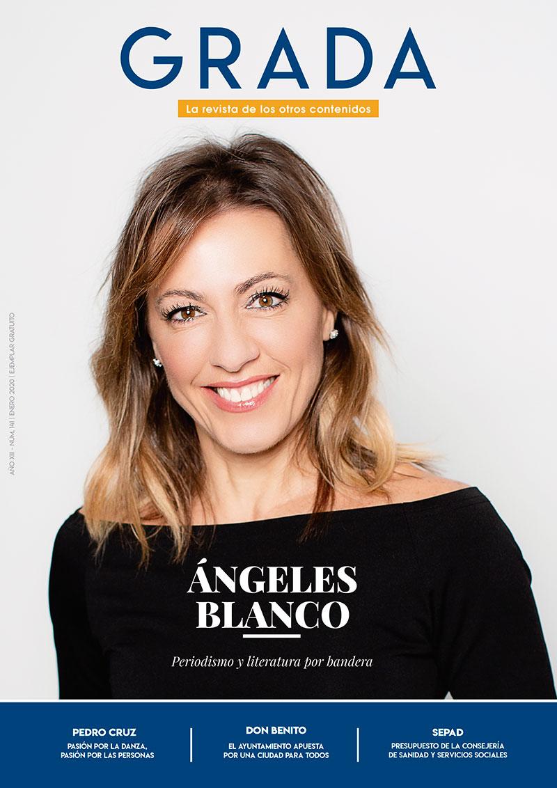 Ángeles Blanco. Periodismo y literatura por bandera. Grada 141. Portada