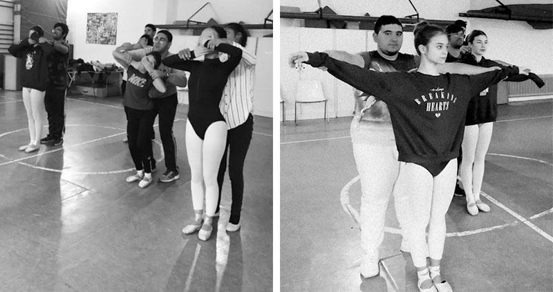 Diversos momentos de las clases de danza. Fotos: Cedidas