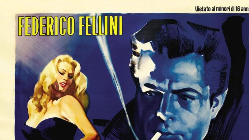 Proyección de 'La dolce vita' de Fellini