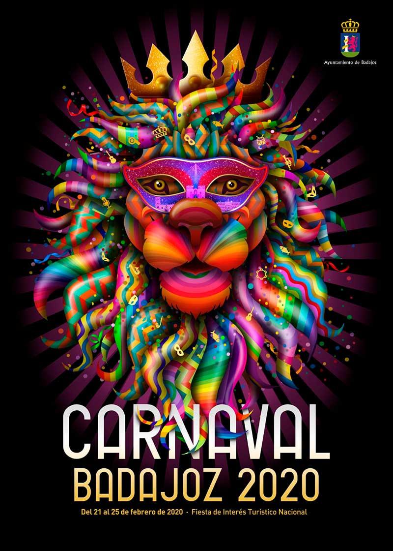 Cartel del Carnaval 2020 de Badajoz