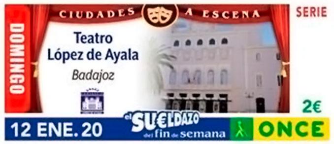 El Teatro López de Ayala protagoniza el cupón de la ONCE