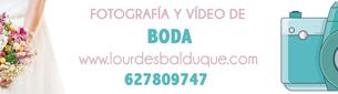 Banner Lourdes balduque fotografía de vídeo y boda