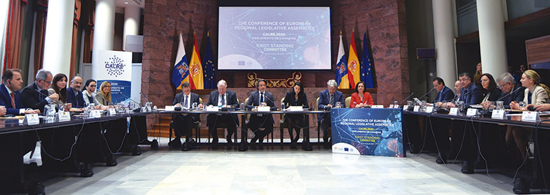 Momento de una de las sesiones de la Calre. Foto: Asamblea de Extremadura