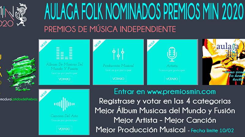 El grupo extremeño Aulaga Folk es nominado a los Premios de la música independiente