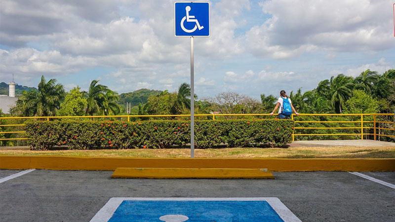 Plaza de aparcamiento reservada. Foto: Cedida
