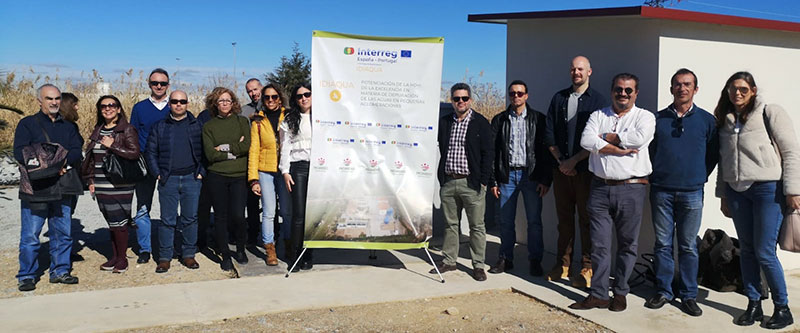 Visita durante la reunión del proyecto IDIaqua. Foto: Diputación de Badajoz