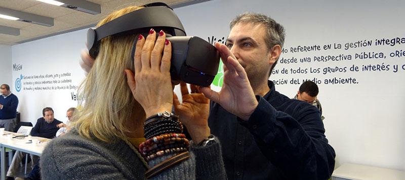 Iniciativa de realidad virtual relacionada con la depuración de aguas. Foto: Diputación de Badajoz