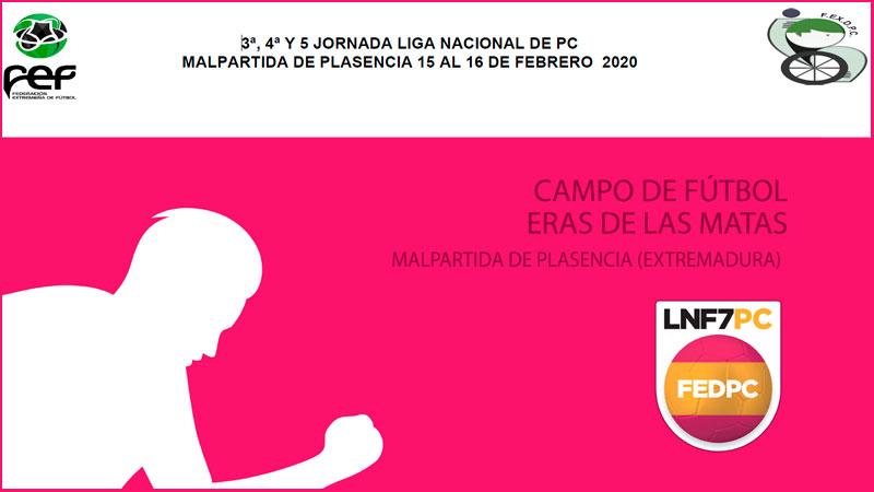 Liga Nacional de Fútbol 7 para personas con parálisis cerebral en Malpartida de Plasencia