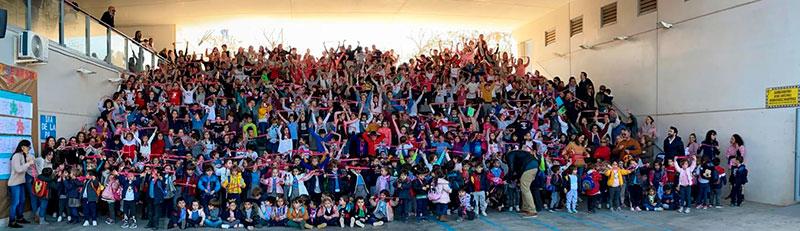 Integrantes del colegio público 'Las Vaguadas' de Badajoz. Foto: Cedida