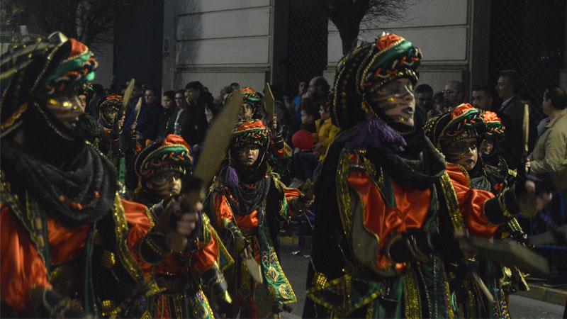 Desfile de comparsas infantiles del carnaval de Badajoz 2020