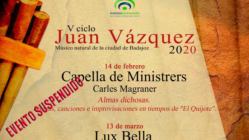 V Ciclo de música 'Juan Vázquez' en Badajoz