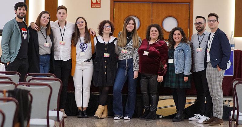 Miembros de la nueva junta directiva. Foto: Consejo de la Juventud de Extremadura