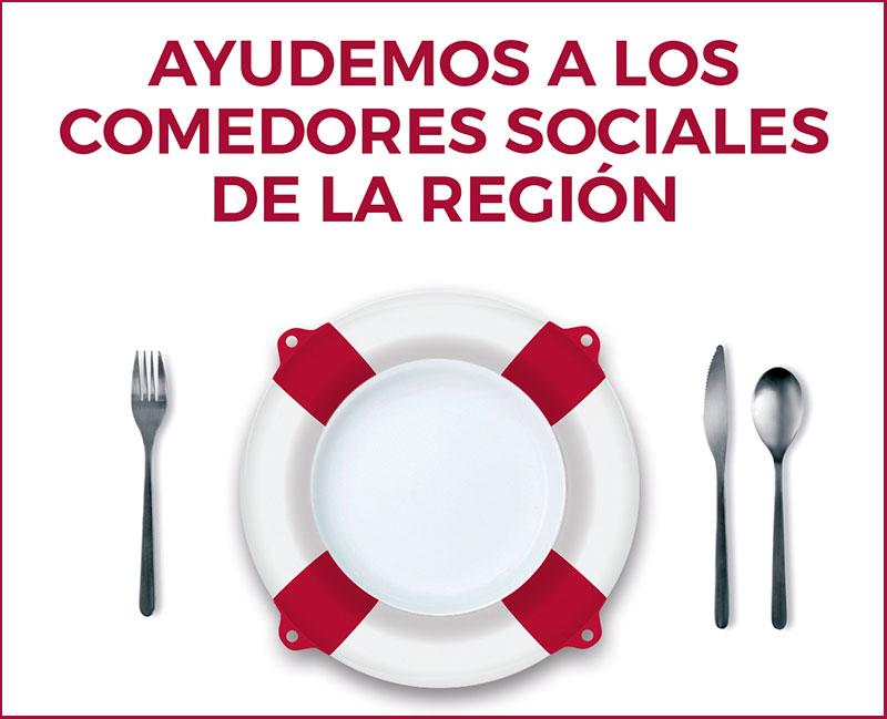 Ayuda para los comedores sociales de la región
