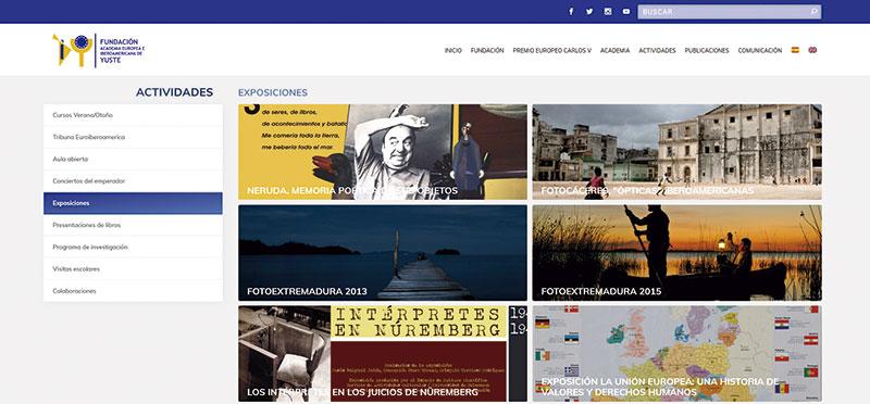 Exposiciones recogidas en la web