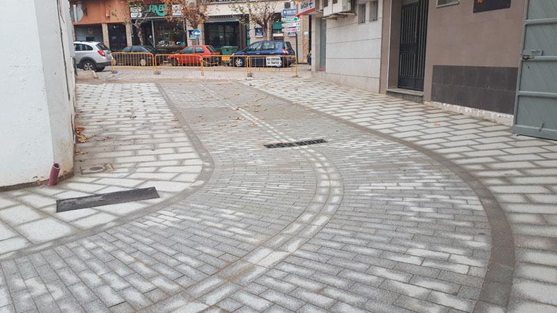 Tramo de calle adaptada sin desniveles. Foto: Cedida