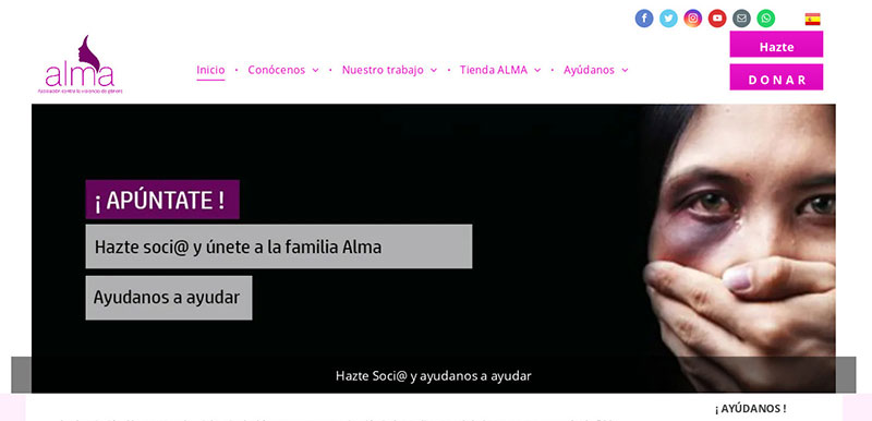 Web de la Asociación Alma