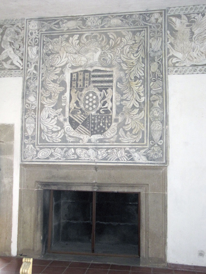 Esgrafiados de la casa-fuerte de Los Altamirano (el Alcazarejo). Foto: Cedida