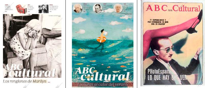 Varias portadas del ABC Cultural