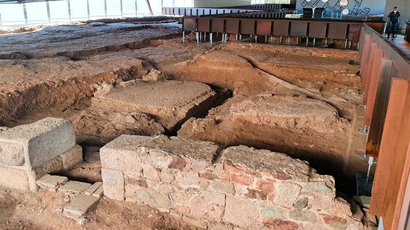 Excavaciones en la Casa del Anfiteatro. Foto: Ayuntamiento de Mérida