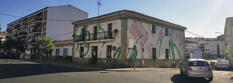 Intervención de Doa Oa en la sede vecinal del barrio de San Blas. Foto: Cedida