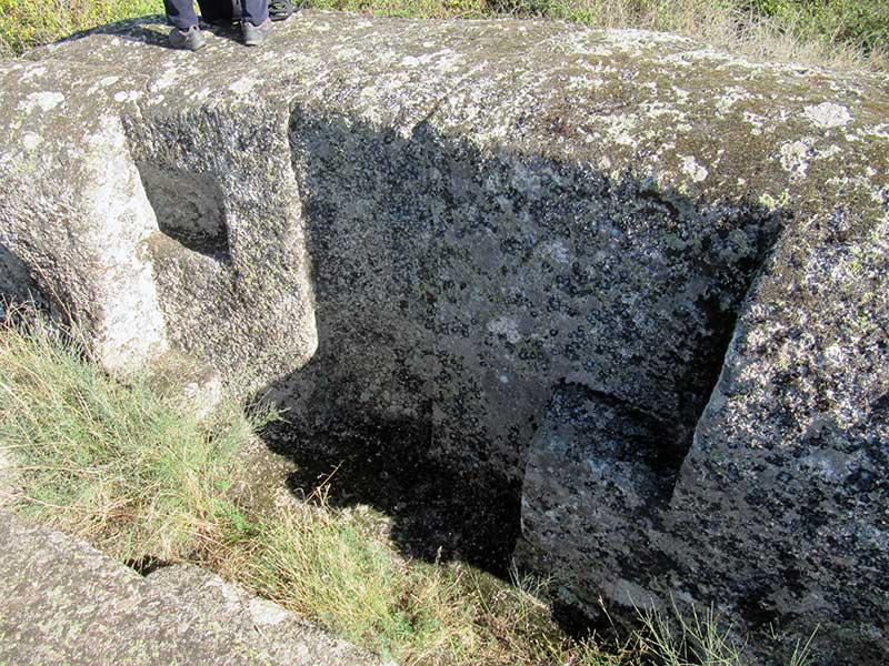Lecho rupestre de Ceclavín. Foto: Cedida