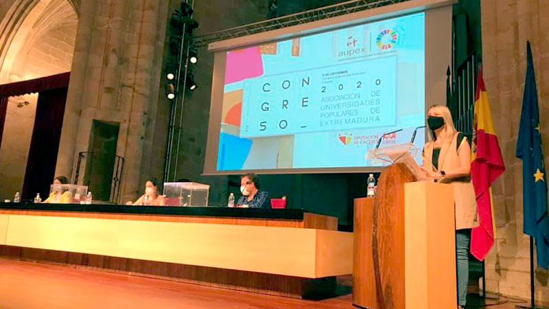 Mónica Calurano presidirá la Asociación de Universidades Populares de Extremadura