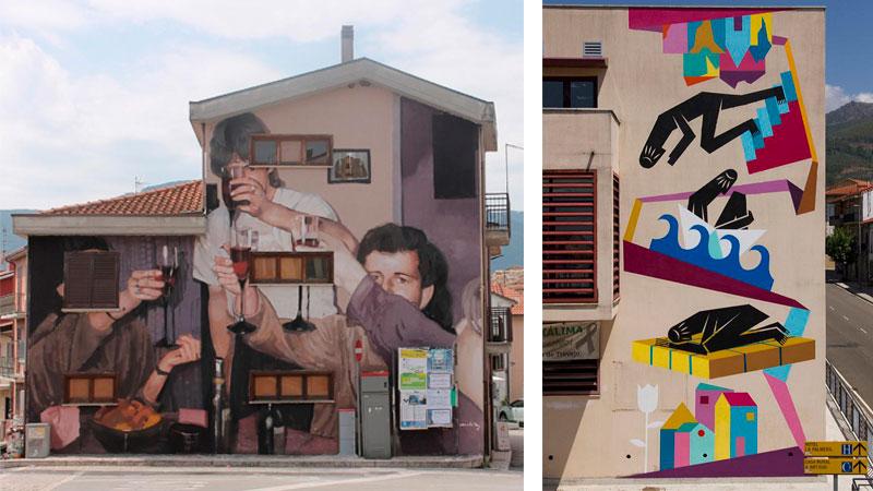 Obras de Mohamed L'Ghacham y Digo Diego. Fotos: Cedidas