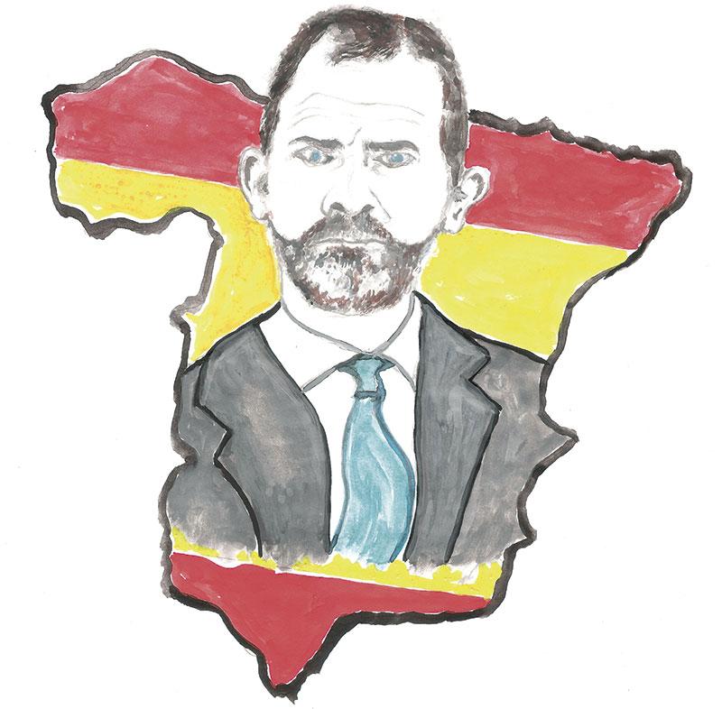 Rey Felipe VI. lustración: Michael Seer