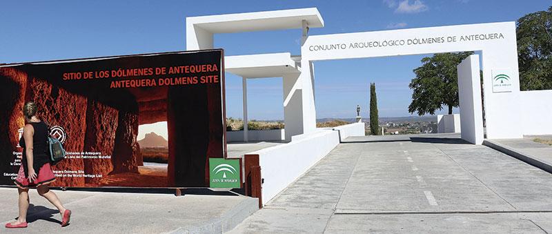 Entrada al 'Sitio de los Dólmenes de Antequera'. Foto: Cedida