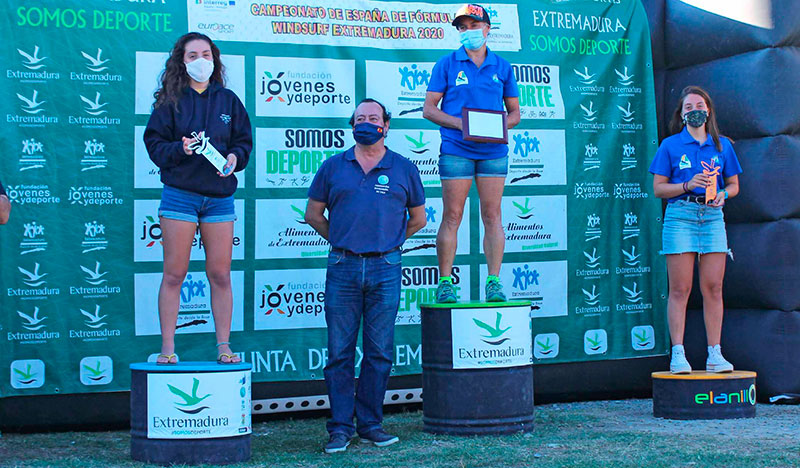 Podio del Campeonato de España en categoría femenina