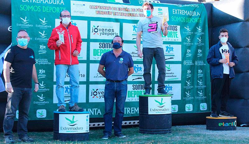 Podio del Campeonato de Extremadura