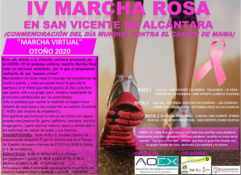 Marcha Rosa en San Vicente de Alcántara