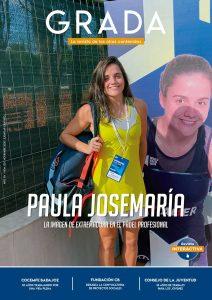Paula Josemaría. La imagen de Extremadura en el pádel profesional. Grada 150. Portada