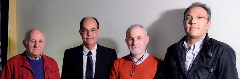 Los autores del libro: Francisco Cillán, José Antonio Ramos, Julio Esteban y Óscar de San Macario. Foto: Cedida