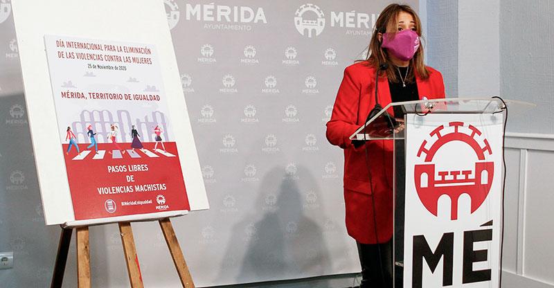 Ana Aragoneses presenta la campaña del Ayuntamiento de Mérida. Foto: Cedida