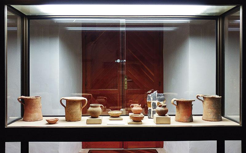Intervención de Augusto Andrade en el Museo Etnográfico de Olivenza. Foto: Cedida