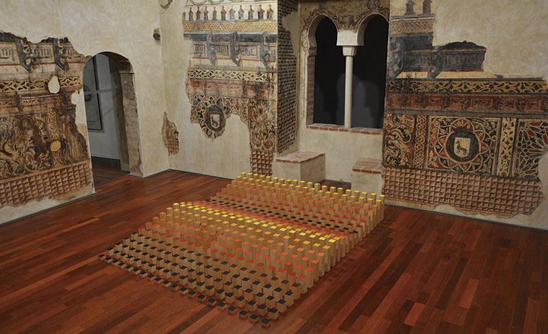 Intervención de Miguel Ángel Cardenal en el Museo Histórico de Llerena. Foto: Cedida