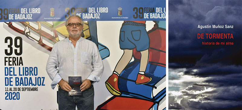 Presentación de su última novela, 'De tormenta, historia de mi alma', en la Feria del Libro de Badajoz. Foto: Ayuntamiento de Badajoz