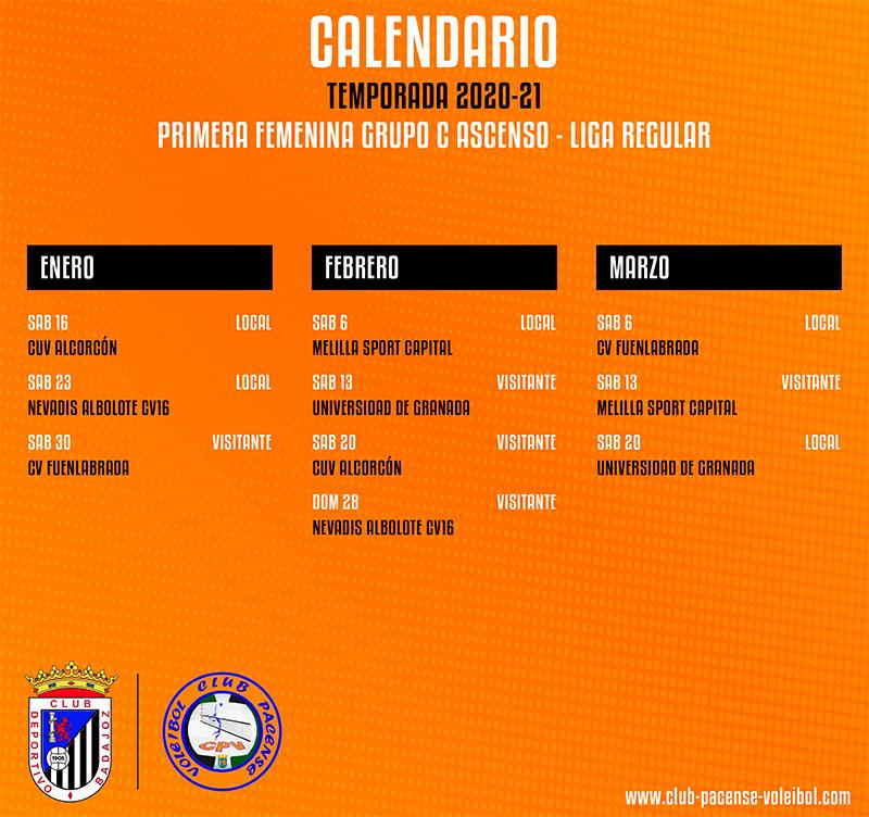 Calendario de la segunda fase de la liga regular