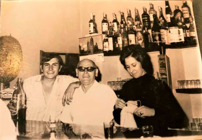 Bar Agustín, de Puebla de la Reina. Década de 1960. Archivo Eloy López