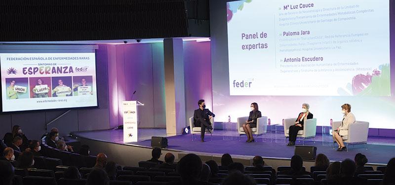 Debate celebrado en el acto central del Día mundial de las enfermedades raras. Foto: Feder