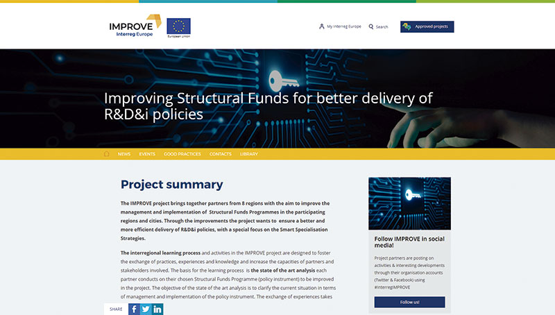 Web del proyecto 'Improve'