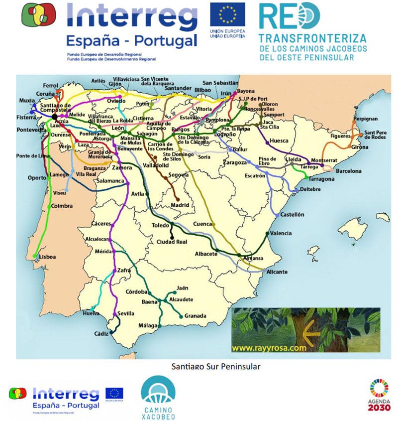 Rutas hacia Santiago de Compostela