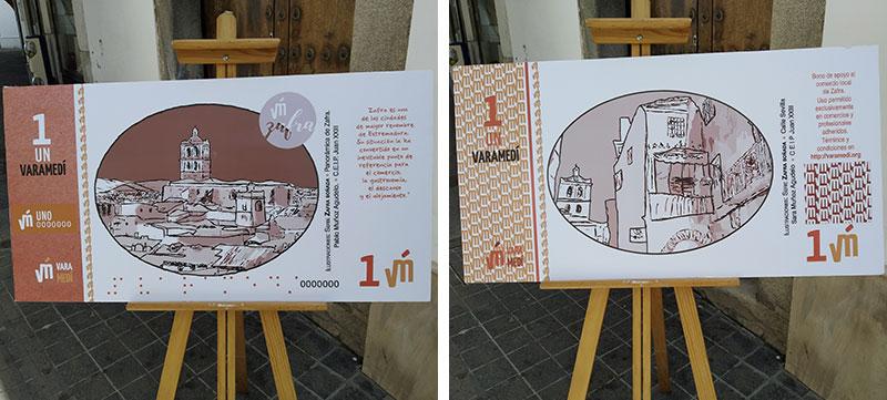 Nuevos billetes de Varamedí. Fotos: Cedidas