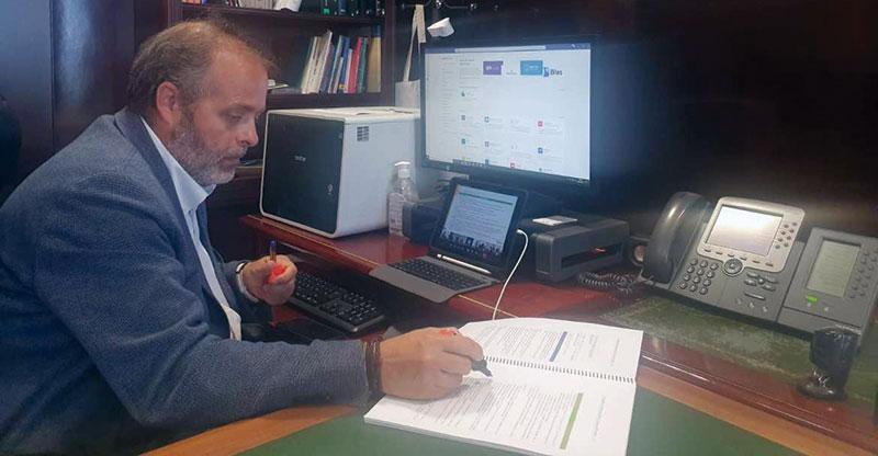 El consejero de Economía, Ciencia y Agenda Digital, Rafael España. Foto: Junta de Extremadura