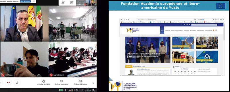 Charla del proyecto Erasmus+ con alumnos extremeños y franceses
