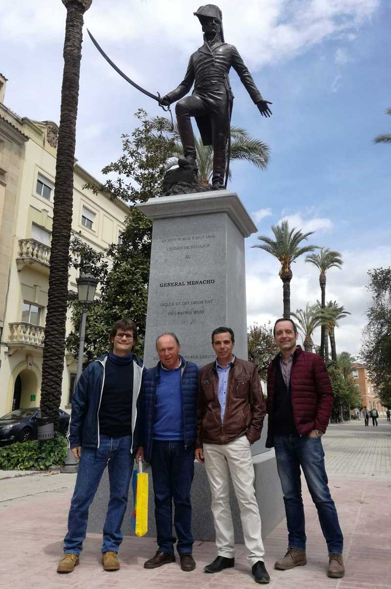 Oliver Saez, Plácido Ramírez, Salvador Amaya y Ángel Pérez Espacio. Foto: Cedida