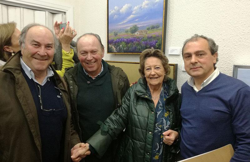 Luis Martínez Giraldo, Plácido Ramírez, María Rosa Palacios y Miguel Ángel Gartzía. Foto: Cedida